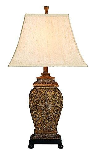 Aspire Fallon Table Lamp Pair, Brown/Beige (Table Lamp Aspire)
