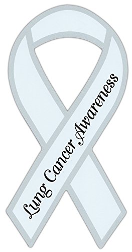 Ribbon Shaped Awareness Support Magnet - Lung Cancer - Cars, Trucks, SUVs, Refrigerators, Etc.]()