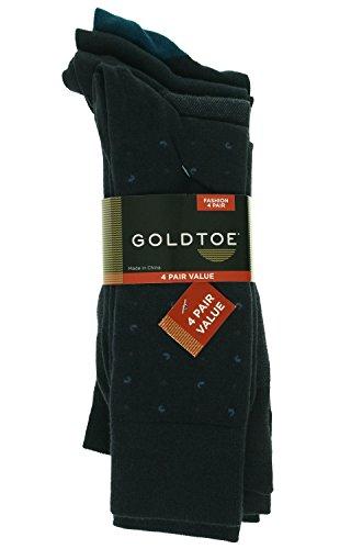 Gold Toe Men's 4 Pair Mini Paisley Fashion Socks - 4 Pack, N