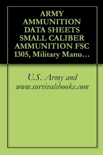 ARMY AMMUNITION DATA SHEETS SMALL CALIBER AMMUNITION FSC 1305, Military Manuals, Survival Ebooks
