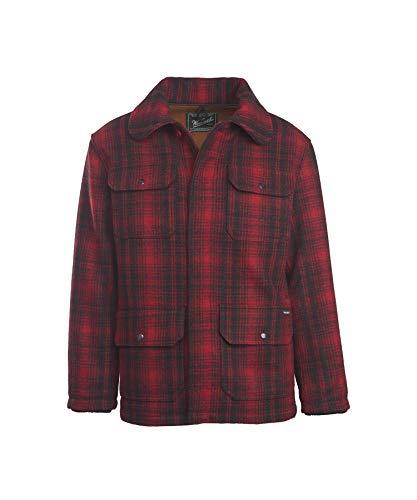 Woolrich Men's Classic Hunt Coat, Red Black Plaid, Medium