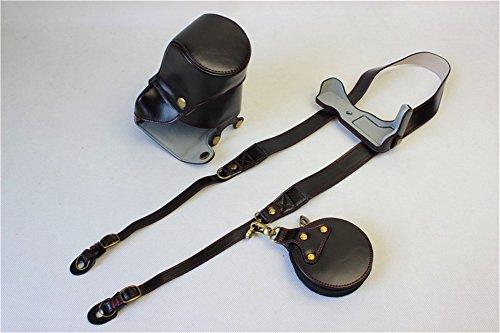 EOS M5 Case, BolinUS Handmade PU Leather FullBody Camera Cas