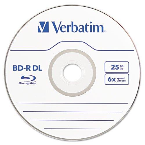Verbatim Blu-Ray BD-R Dual-Layer, 50 GB, 3/Pk