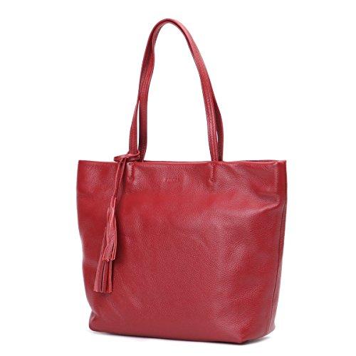 Lederleiter Europa Umhängetasche aus Leder Crossbody Damen Damentasche Damenhandtasche Frauen Freizeit Gurt Handtasche