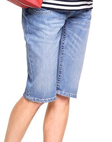 Christoff Bermudas Pantalones Vaqueros Capri Mujer Moda Premamá Pantalones Ajustados / Ajustado Blau (Lightwash)