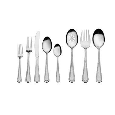 International Silver Pearl 87 Piece Flatware Set, Stainless Steel/Silver