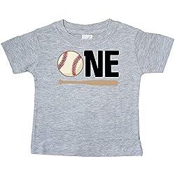 inktastic - 1st Birthday Baseball Boys Baby T-Shirt 24 Months Heather Grey 33272
