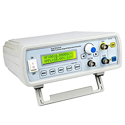 vinmax 2MHz Dual Channel DDS Function Signal Generator Sine Square Wave Sweep Counter