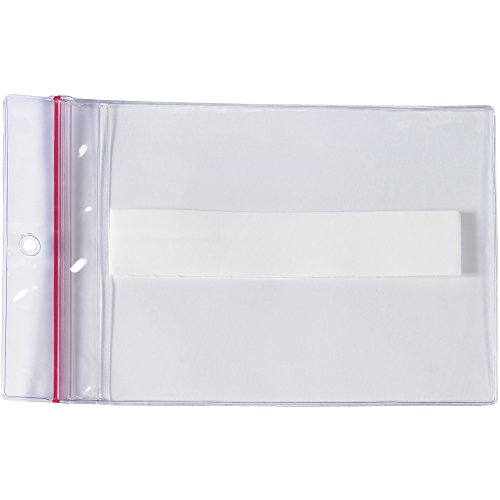 SUPERSCAN LH238 Press-On Vinyl Envelopes, Reclosable, 9'' x 12'' (Pack of 50) by SUPERSCAN