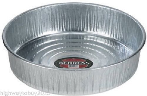 Behrens High Grade Steel 2168 3 Gallon Galvanized Steel Utility Pan - Hog Pan
