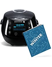 Reishunger Digitale rijstkoker (1.5l/860W/220V) Multi-cooker met 12 programma's, 7-fase technologie, premium binnenpot, timer en warmhoudfunctie - rijst voor maximaal 8 personen…