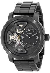 Fossil Men's ME1133 Nate Analog Display Analog Quartz Black Watch