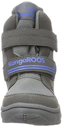 KangaROOS Unisex-Kinder Kamlo Schneestiefel Grau (dk Grey/royal Blue 245)