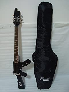 Ktone 6 String Electric Guitar, Machine Gun Shape, Black /W Gig Bag