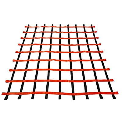 Fong 8 ft X 8 ft Climbing Cargo Net Black & Red- Playground Cargo Net - Outdoor Climbing Net for Kids - Climbing Net for Swingset: Sports & Outdoors