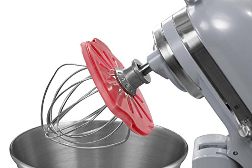 Whisk Wiper PRO for Stand Mixers – Mix Without The Mess – The Ultimate Stand Mixer Accessory – Compatible With KitchenAid Tilt-Head Stand Mixers – 4.5qt, 5qt (Color: Red)