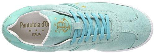 Pantofola Doro Damen Barletta Suede Donne Low Sneaker Grün (caraibi)
