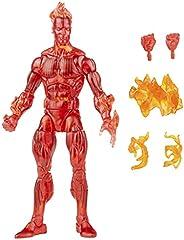 Boneco Marvel Legends Series Retrô Fantastic Four, Figura de 15 cm - Tocha Humana - F0351 - Hasbro