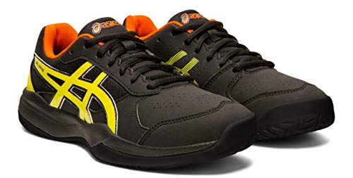 ASICS Gel-Game 7 GS Kid's Tennis Shoes, Black/Sour Yuzu, 7 M US Big Kid