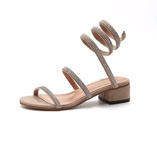 Donyyyy Zapatillas de Verano Twining Solo Zapatos Finos Thirty-seven