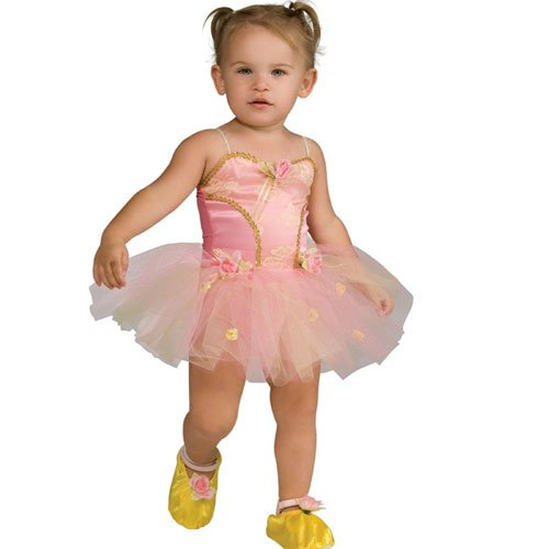 [Childs Pink Rose Ballerina Costume, Small (Size 4-6) (Ages 3-4)] (Ballerina Costumes For Toddler)