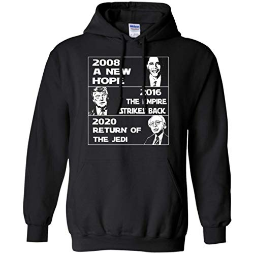 Barack Obama - Donald Trump - Bernie Sanders, 2020 Return of The Jedi Funny USA Hoodie Barack Obama Hooded Sweatshirt