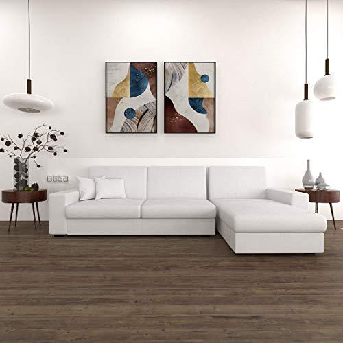 Sekar Lifestyle Compact L Shape Leatherette Sofa Set for Living Room  3+1,  LHS , White