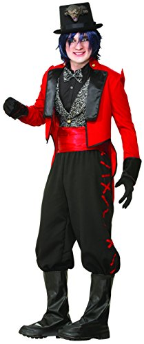 Forum Novelties Men's Twisted Attraction Deluxe Ring Master Costume, Multi, One Size (Cummerbund Costume)