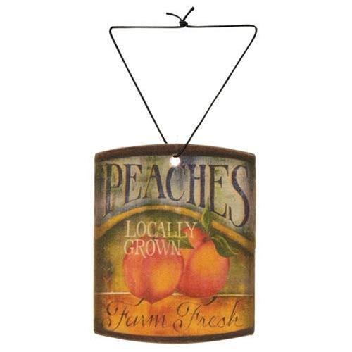 A Cheerful Giver A Farm Fresh Juicy Peach Car Air Freshener, Multi