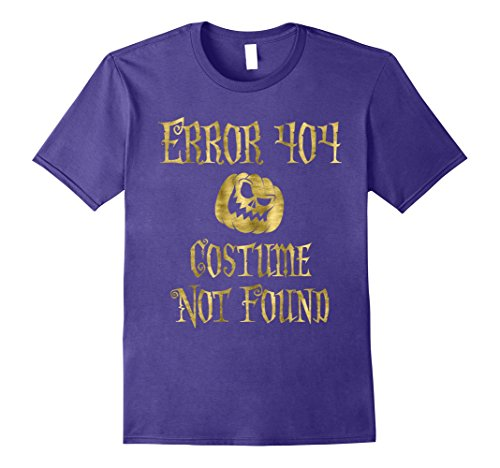 Error 404 Costume Not Found Image (Mens Halloween Shirt Error 404 Faux Gold Medium Purple)