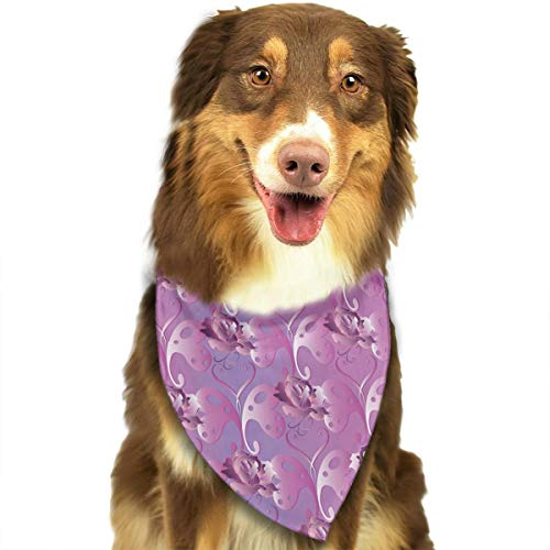 Adjustable Dog Bandanas Purple Butterflies Love Heart for sale  Delivered anywhere in Canada