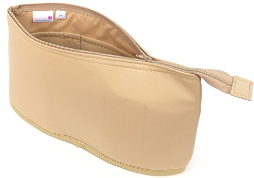Purse Bling ''Purse To Go'' Style Organizer Insert with Zipper - Extra Jumbo-Tan by Purse Bling Fabrics