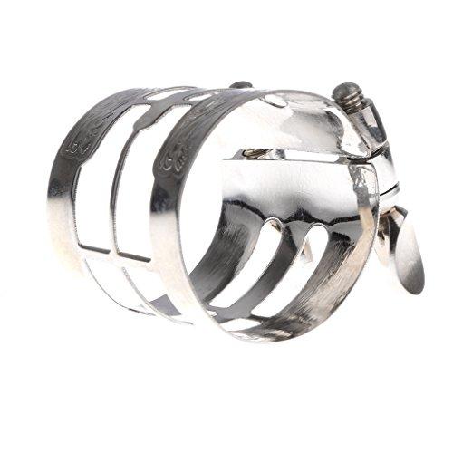MagiDeal Copper Alto Sax Mouthpiece Pipe Clip Bakelite Mouthpiece Flute Head Clamp for Alto Saxophone Muscial Instrument Parts - -