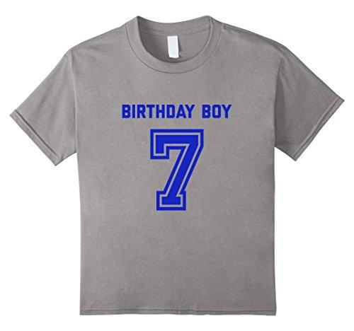 Kids 7th Birthday Shirt Gift Age 7 Year Old Boy Tshirt Boys Tee 8 Slate