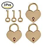 #10: LIMEIJIA 3 Piece Rose Gold Mini Lock Heart Shaped Padlock and Key Suitable for Valentine's Day and Wedding Gifts