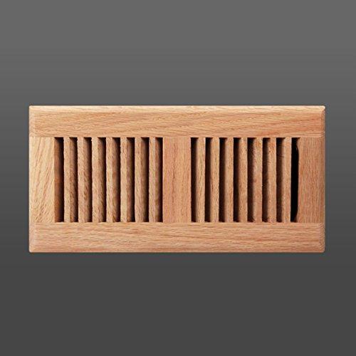 Roundover unfinished oak wood floor grille (4