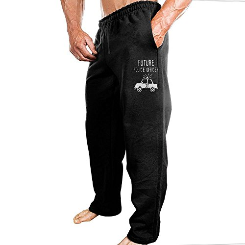 BTBAOP Future Police Officer Casual Pant Sport Pant For Men M Black