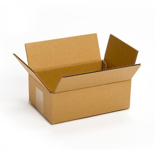 Pratt PRA0016 Recycled Corrugated Cardboard Single Wall Standard Box with C Flute, 8'' Length x 6'' Width x 4'' Height, (Pack of 25) by Pratt