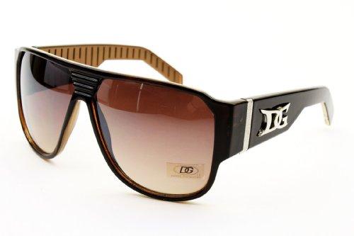 D1148 Dg Eyewear Turbo Aviator Pilot Gangster Fashion Sunglasses (brown/brown, - Dg Men For Glasses