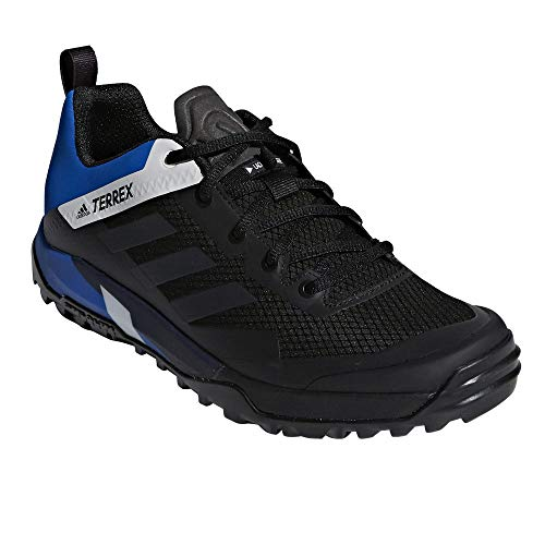 adidas outdoor Terrex Trail Cross SL Cycling Shoe - Men's Black/Carbon/Blue Beauty, - Adidas Cycling Shoes
