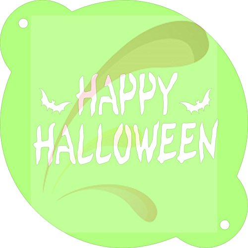 Happy Halloween, Cookie stencil, Cake Stencil, Coffee Stencil, Candy Stencil, Cupcake stencil for Royal Icing, powders, sugars, edible glitters and Airbrushing ()