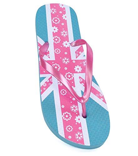 Sandrocks Womens Footwear Union Jack Flip-Flops Sandals, Various Sizes