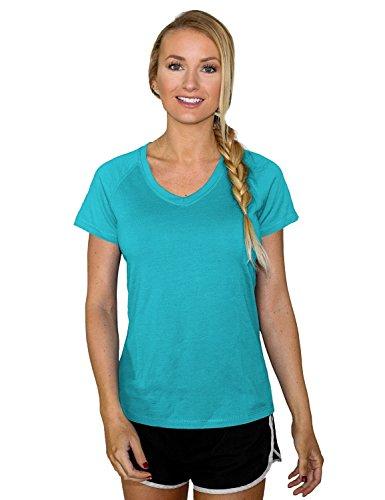 Woolx Womens Mia Lightweight Moisutre Wicking Merino Wool T Shirt That Repels Odor, Paradise, XX-Large ()