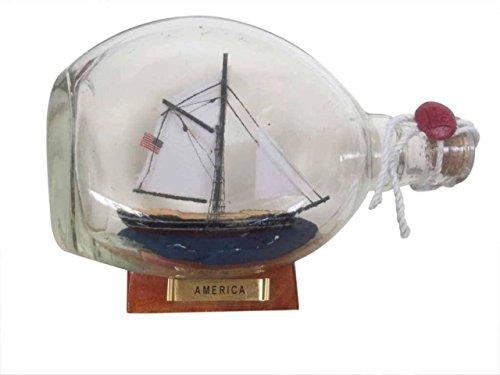 - Hampton Nautical America Sailboat in A Glass Bottle, 7