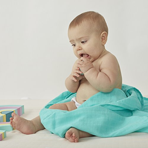 3 x Organic Cotton - Baby Swaddle Blankets - By Willow Beans - ()