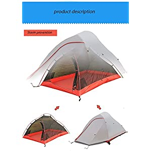 BaiYouDa Alpine Tent,2P Two Person Ultralight Freestanding Tent,4 Season,20D Double Layer Silicone,Portable Lightweight Durable, PU Waterproof 8000 mm,Windproof, Anti-lower temperature,Footprint High