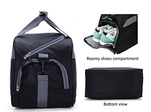 30b6fd655d71 MIER 20inch Sports Gym Bag Travel Duffel Bag with Shoes Compartment for  Women and Men(