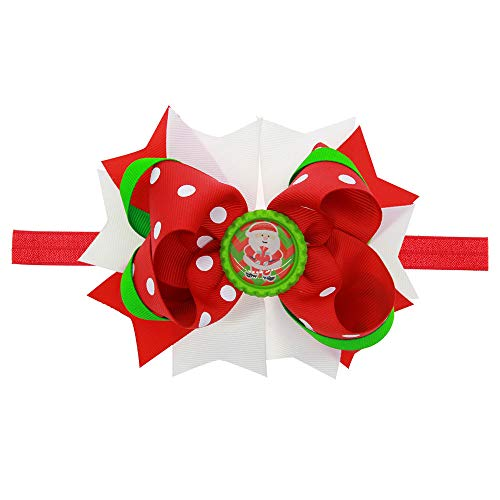 LOKODO Baby Girl Christmas Hair Accessories Ornaments Headdress Elastic Hair Band Headwear