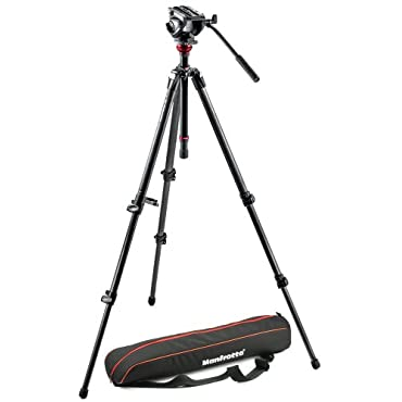 Manfrotto MVH500AH Fluid Head & 755CX3 Tripod with Carrying Bag