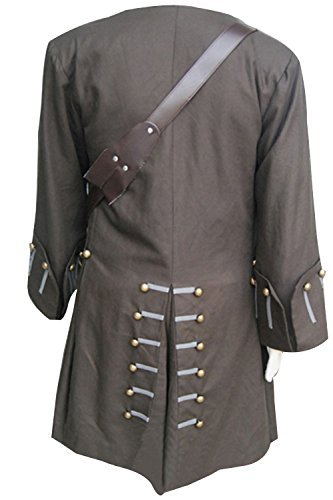 mingL Captain Jack Sparrow Halloween Cosplay Costume Outfit Full Suit Old Version (Custom Made, New Version) by mingL (Image #3)